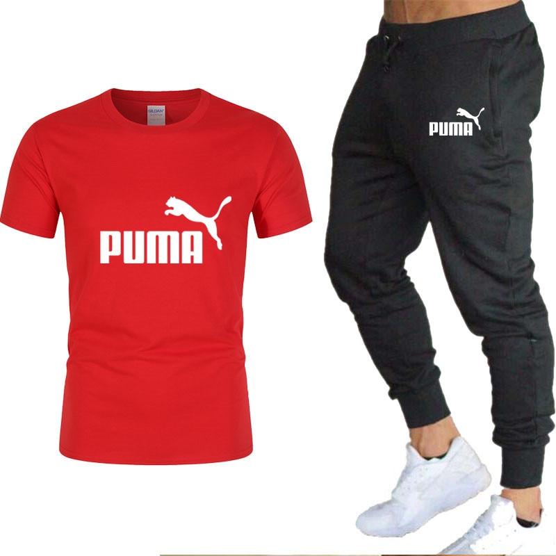 Terno Masculino Puma, Roupa Esportiva Casual, 2 Mangas Curtas Masculinas|Men's Sets| - AliExpress
