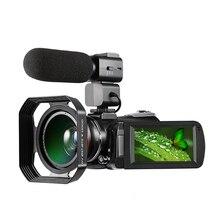 Digital Video Camera 4K WiFi Camcorder Infrared Night Vision 30X Digital Zoom 24