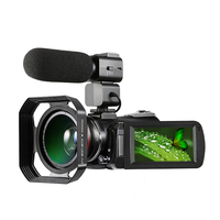 Digital Video Camera 4K WiFi Camcorder Infrared Night Vision 30X Digital Zoom 24MP with Wide Angle Lens Stabilizer Microphone