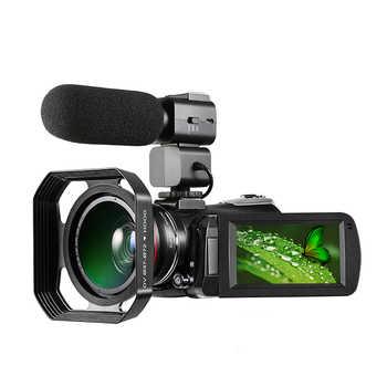 Videocámara Digital 4K Full HD ORDRO AC3 30X Zoom WiFi visión nocturna Camara Filmadora soporte estabilizador de lente