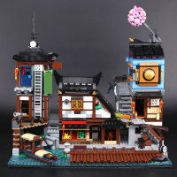 legoinglys SY 1148 3553pcs Ninja Building The City Docks Building Blocks Toy Compatible 70657 06083 Toys for KID birthday gifts