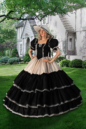 Free Shipping Really Sample Bondage Civil War Era Wide Ball Gown With Wide Handmade From Taffeta Prom Mother Of The Bride Dress