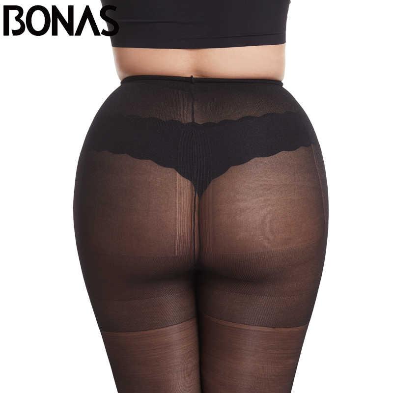 BONAS ผู้หญิง 20D เซ็กซี่สูงเอวกางเกงขาสั้นป้องกันดวงอาทิตย์ฤดูร้อน Pantyhose หญิง Breathable ความยืดหยุ่นสูงนุ่มถุงน่อง