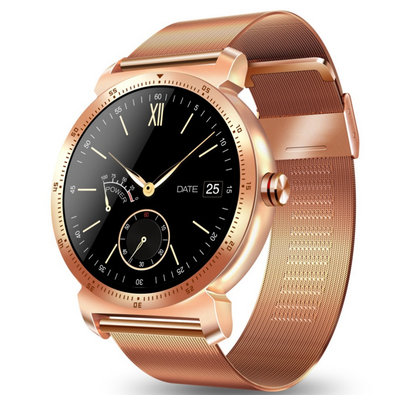 K88H Plus Smart Watch Bluetooth Sports Bracelet Heart Rate Tester Outdoor Pedometer-Rose Gold