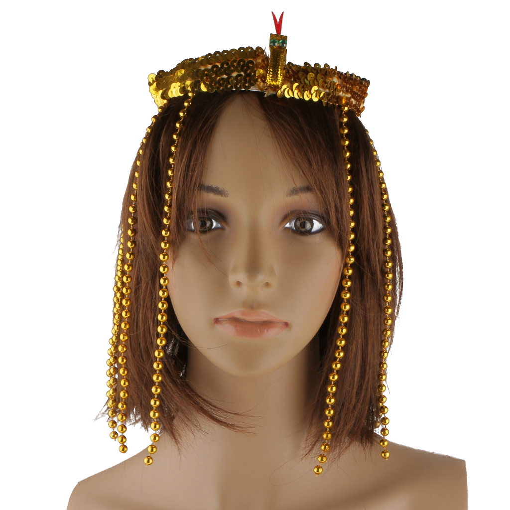 Egyptian Queen Headband Cleopatra Gold Crown Headpiece Accessory