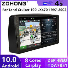DSP 4G For Toyota Land Cruiser 100 Android 10 Car video multimedia player autoradio GPS Navigation audio Stereo DVD 2din LX470