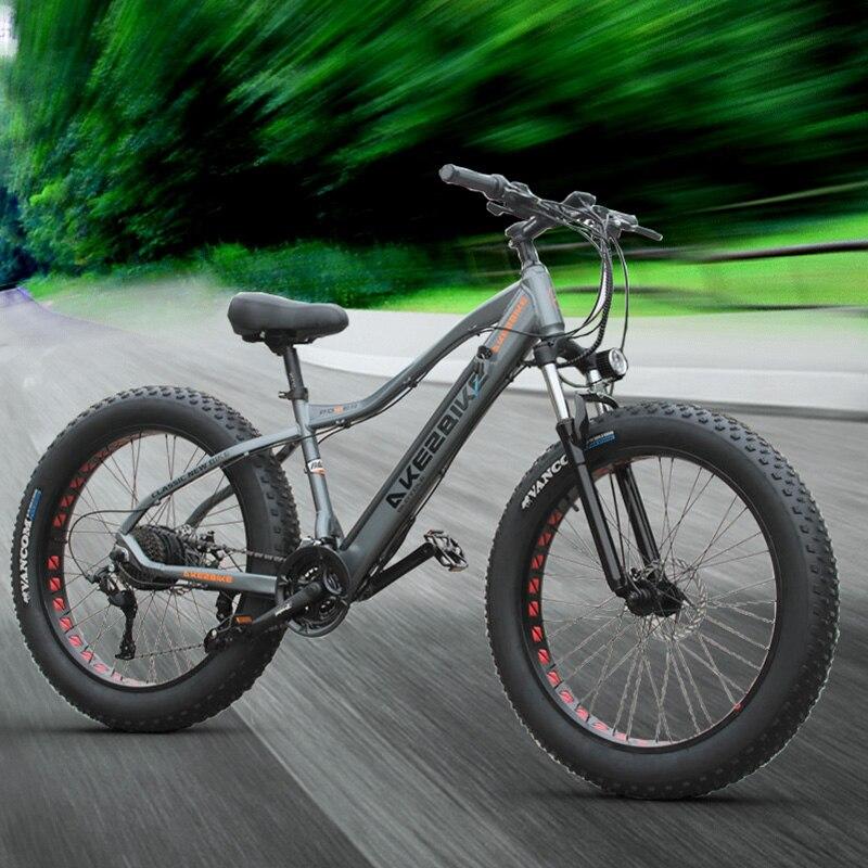 26inch electric mountain bicycle 48V500W fat ebike 4.0 snow tire electric bike Beach snow e-bike