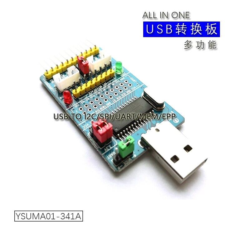 CH341A USB To I2C/IIC/SPI/UART/TTL/ISP Adapter EPP/MEM Parallel Converter