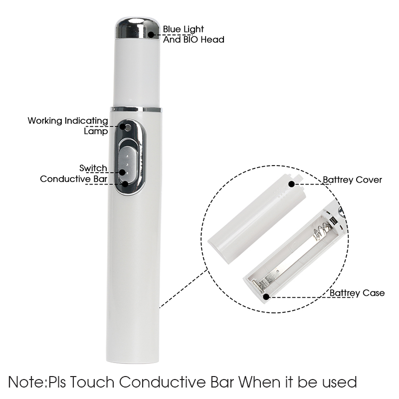 2019Acne Laser Pen Portable Wrinkle Removal Machine Durable Soft Scar Removal Device Blue Light Therapy Pen Face Skin Care DFDF