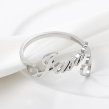 Silver Rings Jewelry Wedding-Band Gifts Stainless-Steel Custom Gold Friend Personalized