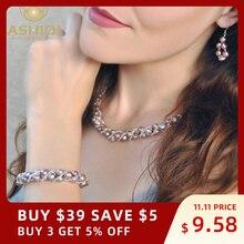 ASHIQI naturalna perła słodkowodna komplety biżuterii i więcej ręcznie robionych kolczyków bransoletka kolczyki dla kobiet NE + BR + EA