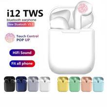 i9s i12 Tws wireless bluetooth headphones 5.0 Earphone Mini Earbuds With Mic Charging Box Sport Head