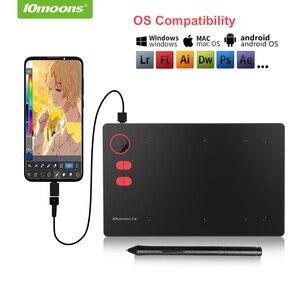 Image 2 - 10moons G20 グラフィック描画タブレットローラーキー大アクティブエリアデジタルタブレットサポートアンドロイド電話