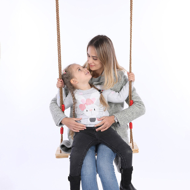 Wooden Chair Garden Swings with Rope 2