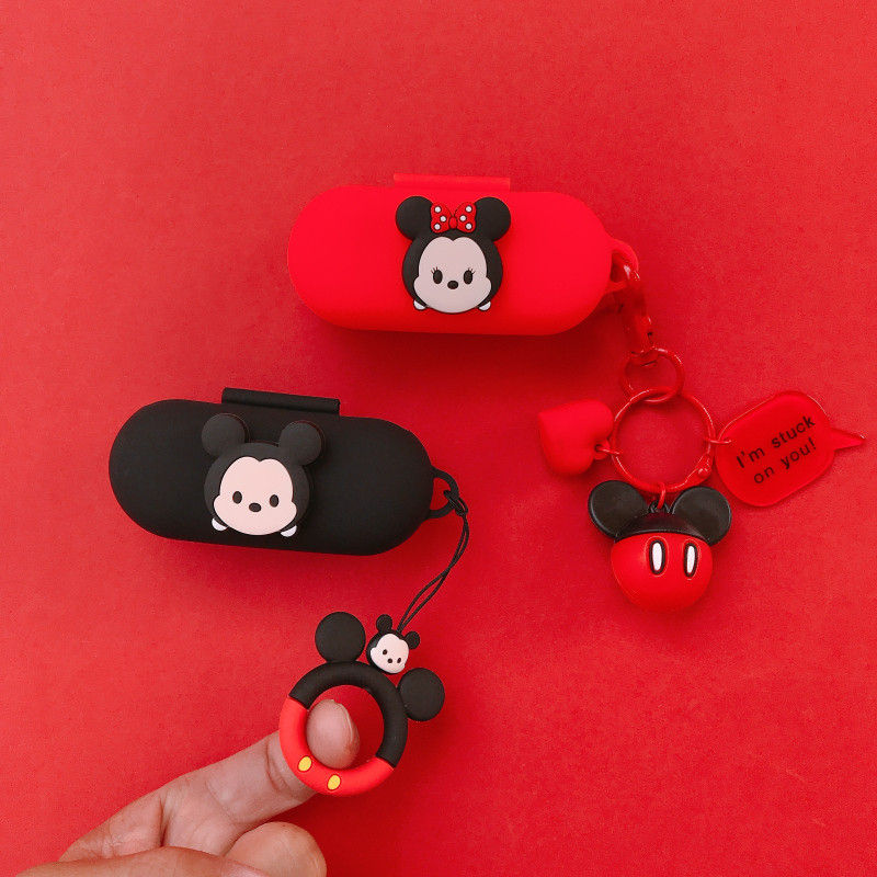 Cartoon Cute Silicone Case For Huawei FreeBuds For Honor Flypods Lite Youth Version Earphone Protective Cover Decor Keyring
