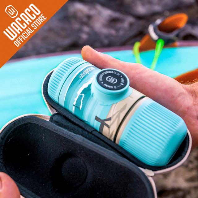 Nanopresso Portable Espresso Maker,18 Bar Pressure, Manually Operated, Compatible with Ground Coffee, Summer Session