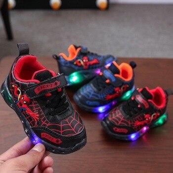 цена 2020 New brand fashion baby sneakers Spring/Autumn infant tennis cool girls boys shoes LED lighted baby casual shoes онлайн в 2017 году