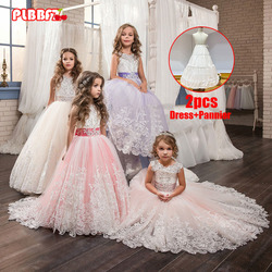 Plbbfz meninas vestido de natal branco da dama de honra crianças vestir para meninas vestido de princesa longo vestido de casamento de festa 10 12 anos