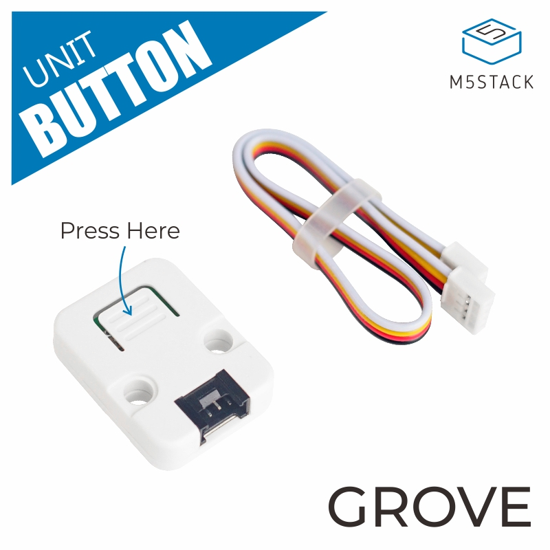 M5Stack Official Mini Button Unit For ESP32 Arduino Micropython Development Kit With GROVE GPIO Port Blockly