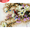 HUACAN Painting By Number Flowers Bird Pictures Canvas DIY Oil Paint By Numbers For Living Room Wall Art Home Decoration Gift