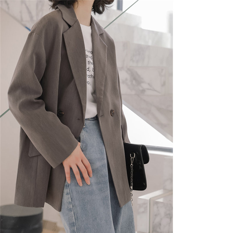 HziriP England Style Loose All Match Casual 2020 Students Full Sleeves Korea Chic Solid Office Lady Fashion Women Blazers