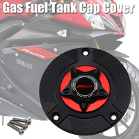 LOGO R125 Motorcycle Accessories Gas Fuel Tank Cap Cover CNC Aluminum for YAMAHA YZF R125 YZF R125 R 125 2008 2019