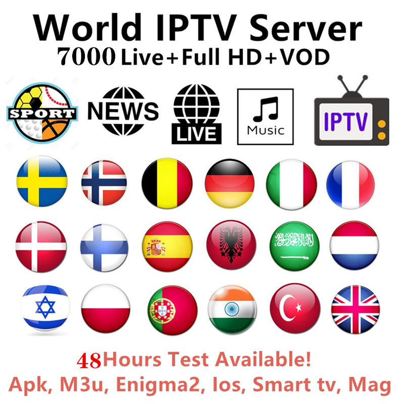 World IPTV 1 Year Iptv Subscription Europe Iptv Portugal Spain France Italy USA Dutch Iptv M3u For Smart TV Android Box H96 Mini