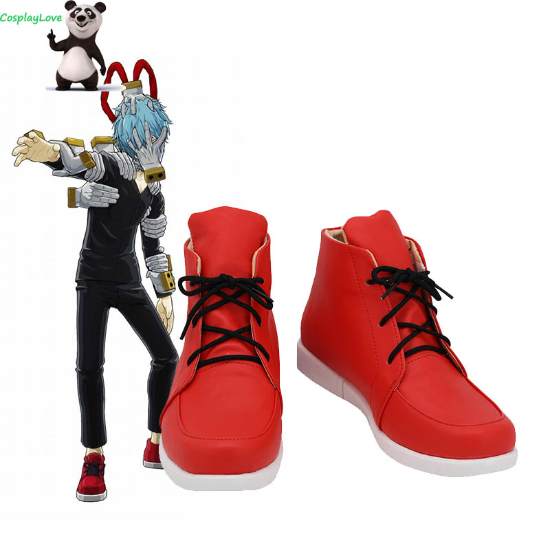 My Hero Academia Boku no Hero Akademia Tomura Shigaraki Red Cosplay Shoes Long Boots Leather Custom Made CosplayLove
