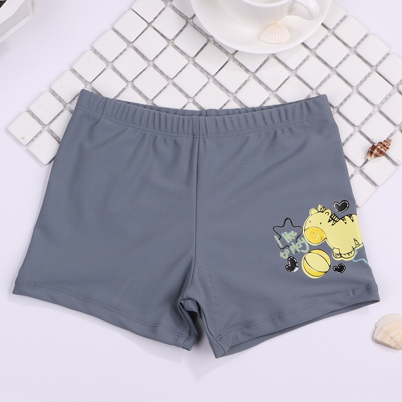 2019 New Style Hot Sales BOY'S Swimming Trunks Children Solid Color Boxer Ultra-stretch Quick-Dry Swimming Hot Springs KID'S Swi