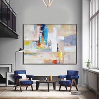 Nordic Minimalist Modern Abstract Color Texture Of Thick Oil Paint Large Murals Living Room Hallway Bedroom Villa