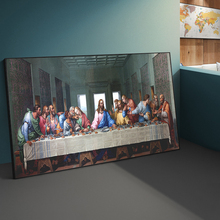 The Last Supper By Leonardo da Vinci Famous Art Canvas Paintings On the Wall Art Posters And Prints Jesus Art Pictures Cuadros недорого