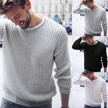 MJARTORIA Men Brand Sweater Black White Casual Knitted Pullover Solid O Neck Sweaters Fashion Streetwear Autumn Winter Tops
