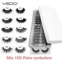 Gros cils de vison 20/30/40/50/100 paires 3d cils de vison extension de cils naturel faux cils maquillage faux cils en vrac