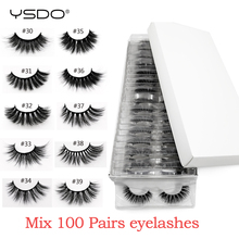 Wholesale mink eyelashes 20/30/40/50/100 pairs 3d mink lashes eyelash extension natural false eyelashes makeup fake lashes bulk