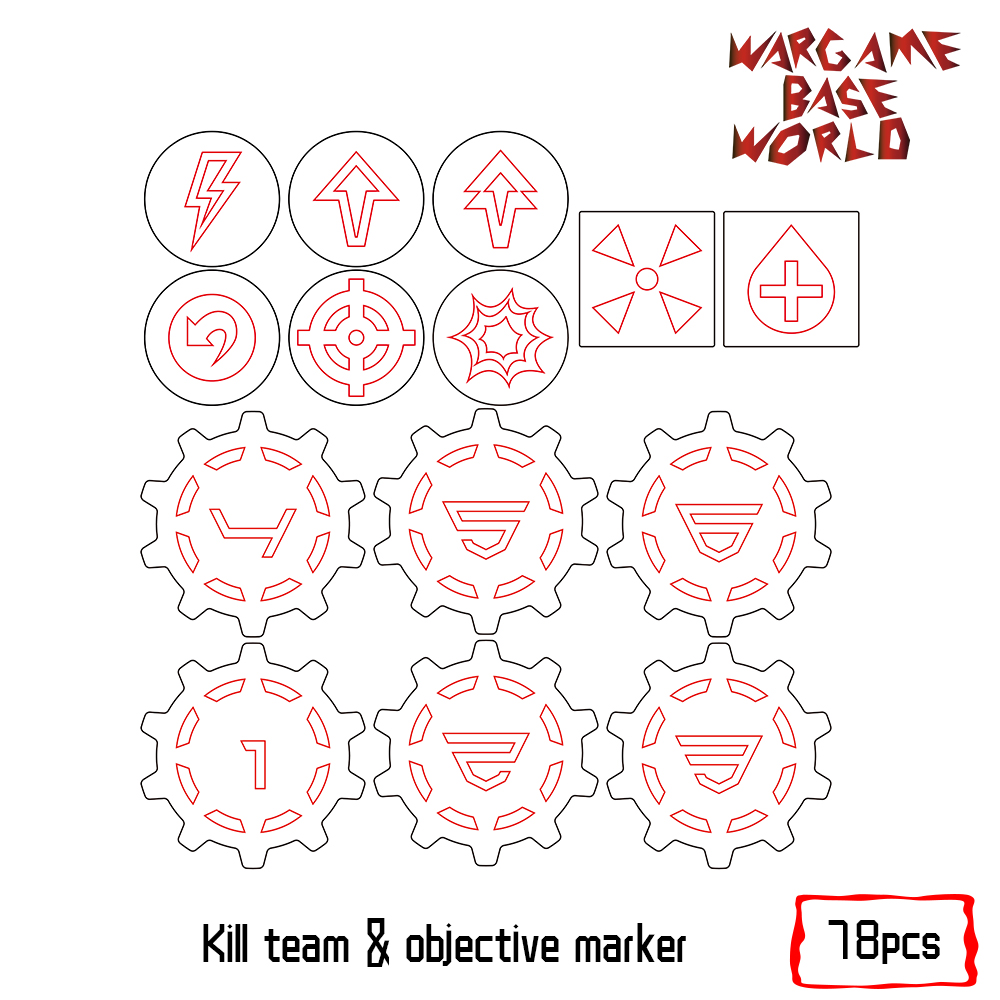 kill team tokens Wargaming Accessory Set Need Buyer Paint 72pcs