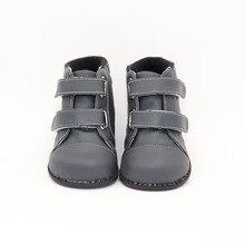 TipsieToes Botas suaves con puntadas de cuero para niños, zapatos escolares, moda de otoño e invierno, 2020