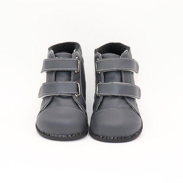 Tipsietoesブランド高品質の革のステッチキッズ子供ソフトブーツ学校の靴男の子2020秋冬雪のファッション