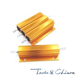 2 pces 61r 61ohm 61 390r 390ohm 390 r ohm 100 w watt de alumínio wirewound power metal escudo caso resistência resistor rx24