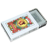 1 Set/50pcs Spanish Plastic Playing Cards Waterproof Cards Durable Playing Cards Creative Gift New Plastic Poker Cards Game