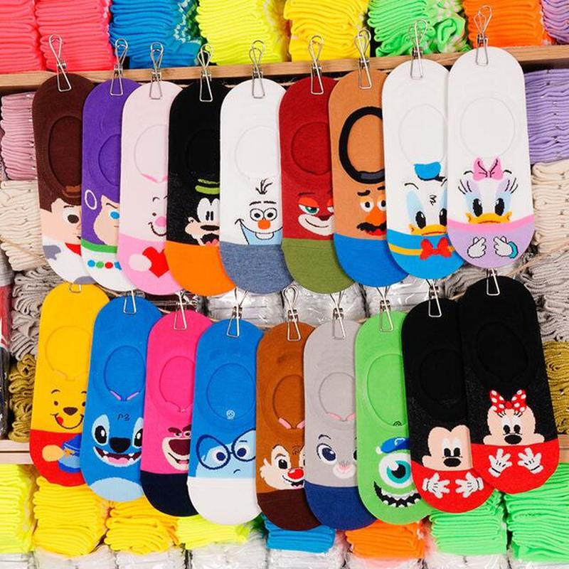 Lady Funny Cartoon Animal Ankle Socks Anime Squirrel Dog Cat Fox Invisible Girl Socks Cute Harajuku Style Happy Woman Socks