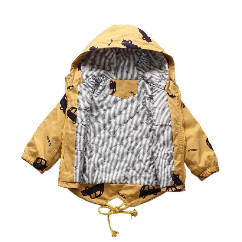 CROAL CHERIE Warm Winter  Jacket Coat Baby Boys Parka Cute Car Kids Jacket Hood Winter Children Jacket Fall Toddler Outerwear  (3)