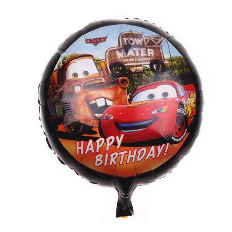 15pcs Disney Cars Lightning McQueen Theme 18 inch Aluminum Film Balloon Cartoon Birthday Party Decorations Baby Shower Supplies image
