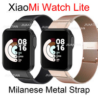 Correa de repuesto para reloj Xiaomi Mi Watch Lite, película protectora de pantalla, correa de Metal milanesa