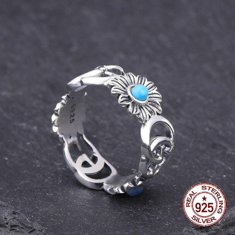 100% S925 bague en argent sterling personnalité mode classique style lettres brillantes bijoux ouverts pour envoyer le cadeau de l'amant 2019 offre spéciale
