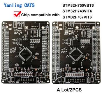 STM32H7 Empty Development Board DIY Welding Arm Cortex M7 MCU STM32H750VBT6 STM32H743VIT6 STM32F767VIT6 LQFP100 2PCS ZL-10 недорого