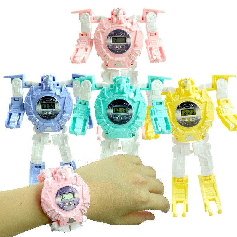 2020 New Kids Transformation Robot Toy Watch Gift For Children