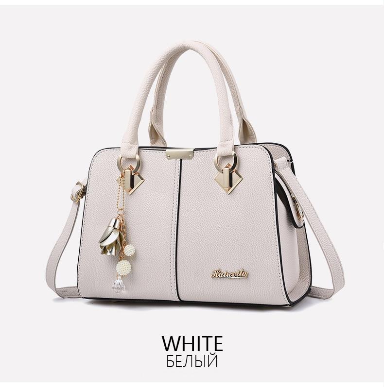 Designer Brand Bags Ladies Leather Tote Bag 2020 Luxury Ladies Handbag Wallet Fashion Shoulder Bag 9
