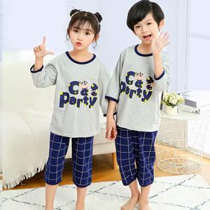 Sleepwear Baby Pajama-Sets Nightwear Kids Cotton Animal Girls Boys Children Half Summer