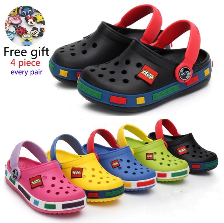 2020 Fashion Boy Girl Beach Slippers Children Sandals  Summer Cartoon Kids Shoes EVA Resistance Breathable Antislip Baby