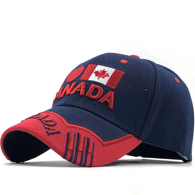 Gorras ماركة كندا العلم الرجال الصيد قبعة بيسبول من كندا قبعة رجالي Snapback العظام قابل للتعديل ونمن قبعات بيسبول Snapback قبعة